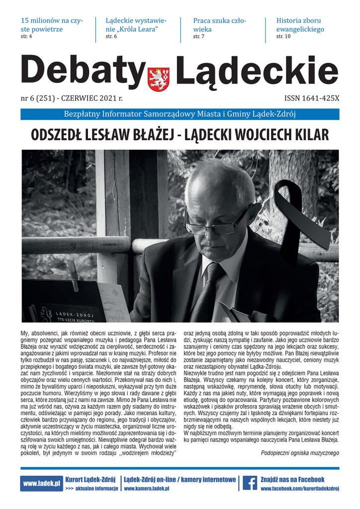 Debaty Lądeckie nr 6/2021 okładka