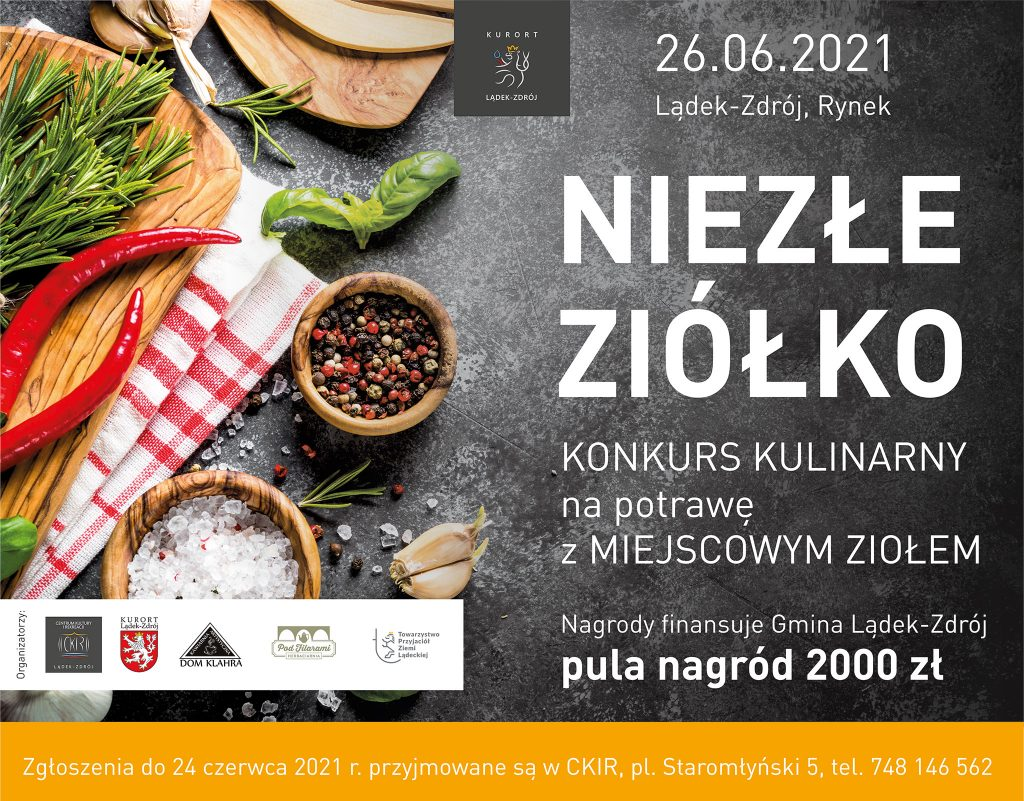 Plakat konkursu Niezłe Ziółko 2021