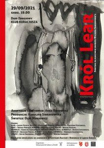 Król Lear - plakat spektaklu